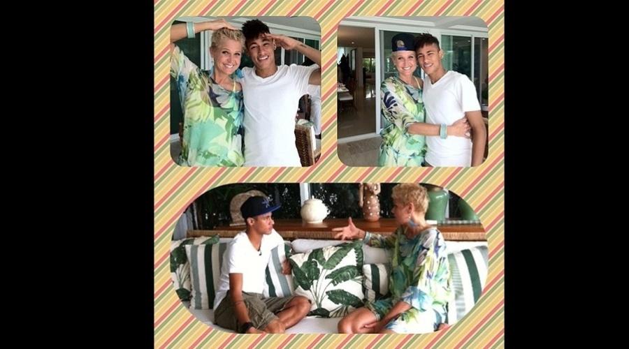 """18.dez.2012 - Xuxa entrevisou o jogador Neymar para o programa """"TV Xuxa"""". A gravação aconteceu em Angra dos Reis, litoral do Rio"""