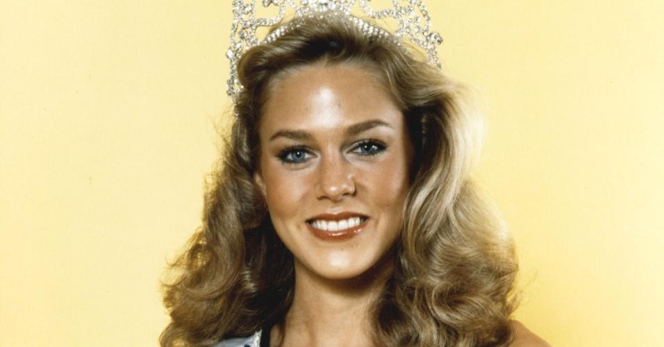 A americana Shawn Weatherly venceu o Miss Universo 1980, realizado em Seul, na Coreia do Sul