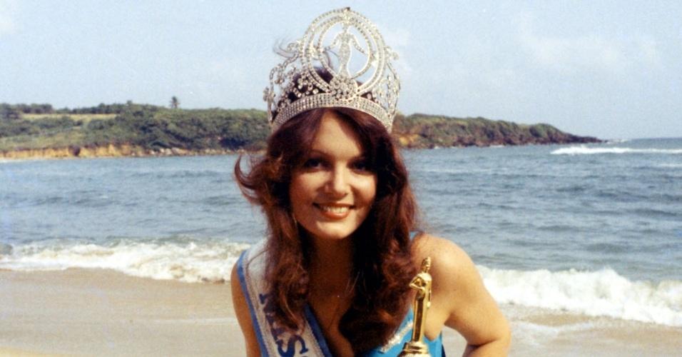 A australiana, Kerry Anne Wells venceu o Miss Universo 1972, realizado em Porto Rico