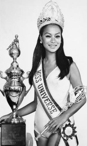 A filipina Gloria Diaz venceu o Miss Universo 1969, realizado em Miami, nos EUA