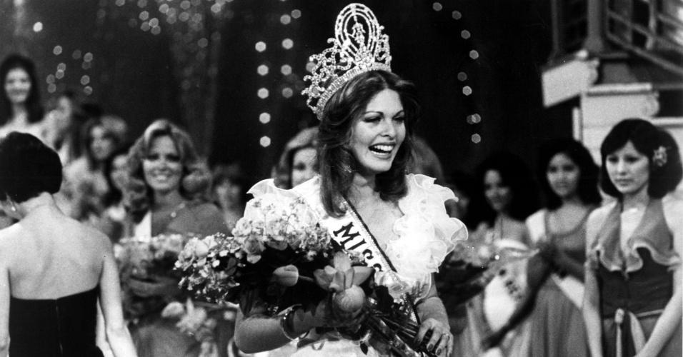 A israelense Rina Messinger venceu o Miss Universo 1976, realizado em Hong Kong (China)