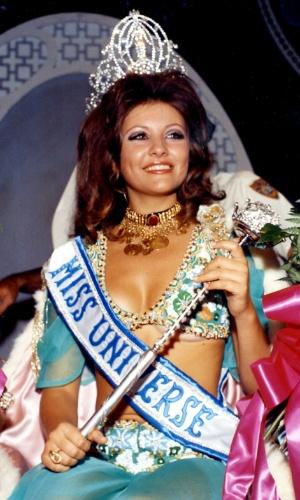 A libanesa Georgina Rizk venceu o Miss Universo 1971, realizado em Miami, nos EUA