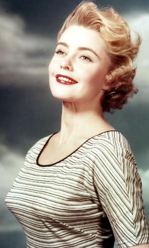 A sueca Hillevi Rombin venceu o Miss Universo 1955, realizado na Califórnia, nos EUA