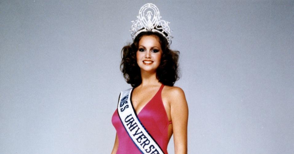 A sulafricana Margaret Gardiner venceu o Miss Universo 1978, realizado em Acapulco, no México
