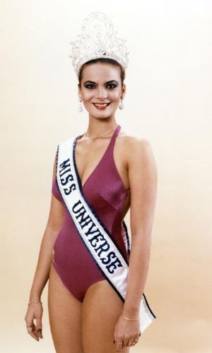 A venezuelana Maritza Sayalero venceu o Miss Universo 1979, realizado em Perth, na Austrália