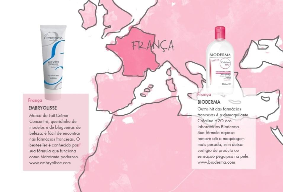 Beleza de viagem - França (mapa 1)