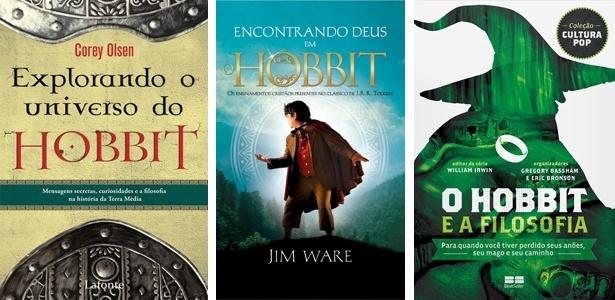 """Capas dos livros """"Explorando o Universo do Hobbit"""", """"Encontrando Deus em """"O Hobbit"""""""" e """"""""O Hobbit"""" e a Filosofia"""" - Divulgação"""