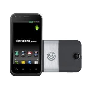Smartphone Gradiente iphone Neo One GC 500 SF tem suporte a dois chips e conta com sistema Android  - Divulgação