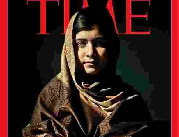 """19.dez.2012 - A ativista de direitos humanos paquistanesa Malala Yousafzai, 15, ficou na 2ª colocação entre os indicados ao posto de pessoa do ano pela revista """"Time"""" - Reprodução/Time"""
