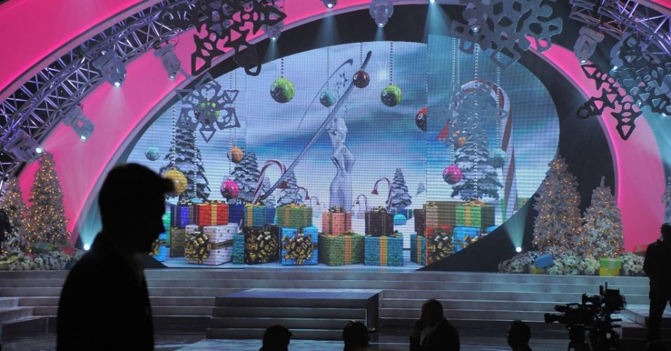19.dez.2012 - Em clima de natal, representantes de 89 nações disputam o título de Miss Universo 2012 em Las Vegas, nos Estados Unidos. A gaúcha Gabriela Markus pode quebrar o jejum do Brasil na conquista da coroa