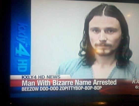 19.dez.2012 - Este pode se gabar de ser o preso com o nome mais ridículo de toda a história: Beezow Doo-Doo Zopittybop-Bop-Bop.  O site americano BuzzFeed fez uma seleção imperdível das 30 melhores fotos de 2012 clicadas no momento da prisão
