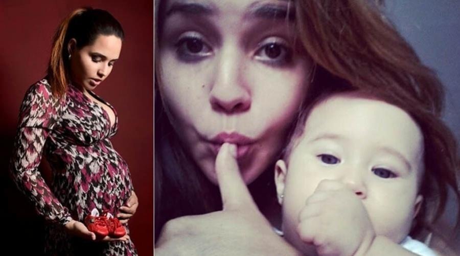 25.mar.2012 - A cantora Perlla foi mãe pela primeira vez no dia 25 de março. Perlla batizou a filha de Pérola. A menina é fruto da relação da cantora com o músico Cássio Castilhol