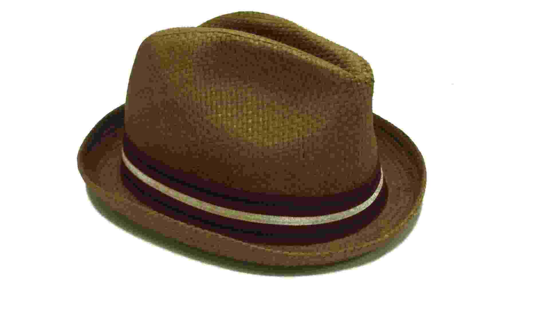 Chapéu panamá verde-musgo com abas arredondadas; R$ 39,90, na Riachuelo (www.riachuelo.com.br) Preço pesquisado em dezembro de 2012 e sujeito a alterações - Divulgação