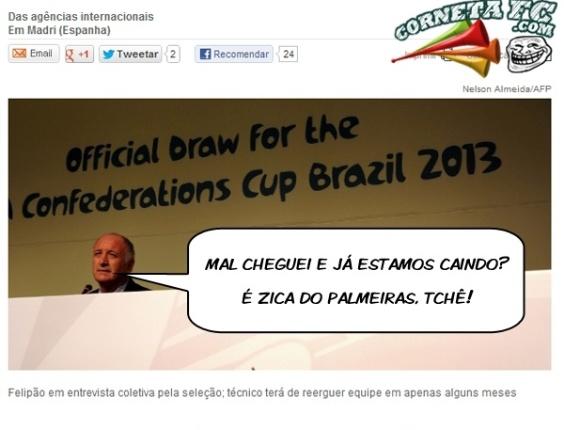 Corneta FC: Brasil cai no ranking da Fifa e Felipão culpa