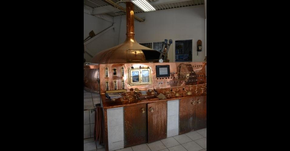 Equipamentos antigos das cervejarias