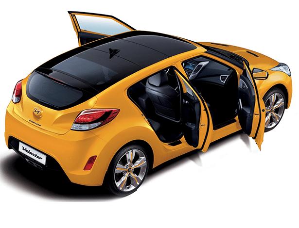 Hyundai Veloster: o que não falta nesse carro é teto de vidro para rachar... - Divulgação