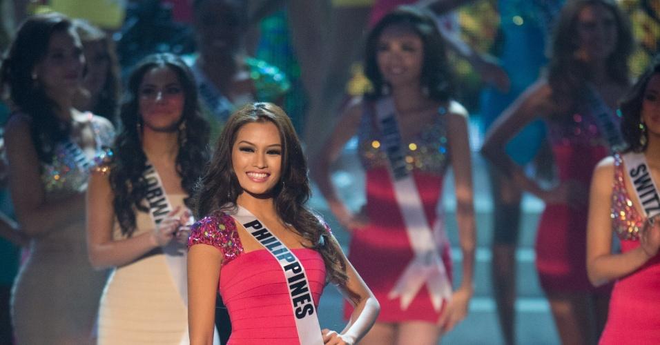 19.dez.2012 - Miss Filipinas, Janine Tugonon, se apresenta no Miss Universo 2012 realizado no hotel Planet Holywood, em Las Vegas. Ela está entre as 16 finalistas do concurso