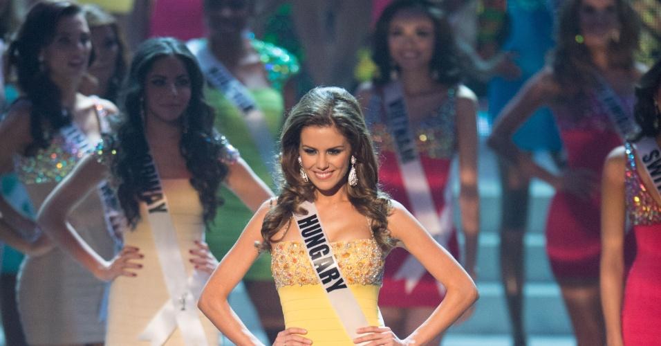 19.dez.2012 - Miss Hungria, Agnes Konkoly, se apresenta no Miss Universo 2012 realizado no hotel Planet Holywood, em Las Vegas. Ela está entre as 16 finalistas do concurso