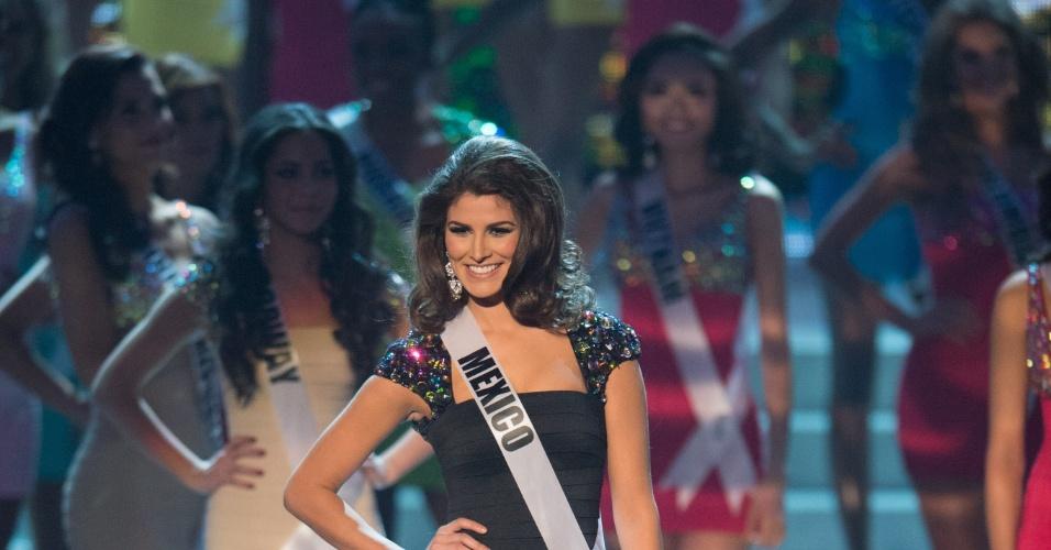 19.dez.2012 - Miss México, Karina Gonzalez, se apresenta no Miss Universo 2012 realizado no hotel Planet Holywood, em Las Vegas. Ela está entre as 16 finalistas do concurso