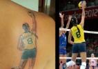 Blog: Fã tatua foto de Jaqueline em lance de partida nos Jogos Olímpicos de Londres