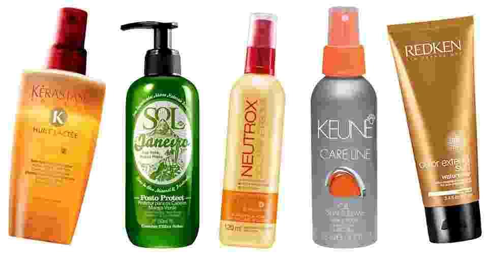 Produtos para os cabelos com filtro solar e sem enxágue - Divulgação