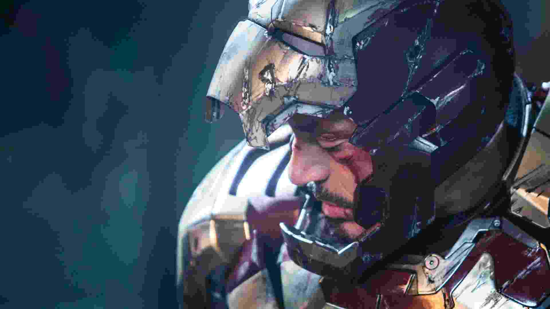 """Tony Stark (Robert Downey Jr.) aparece com a armadura riscada e o rosto sangrando em nova imagem de """"Homem de Ferro 3"""". O filme chega nos cinemas brasileiros em abril de 2013 - Divulgação"""