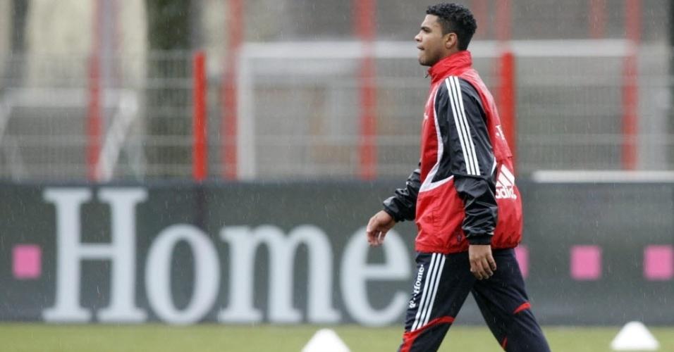07.jan.2008 - Breno, então no Bayern de Munique, participa de treino realizado na Alemanha