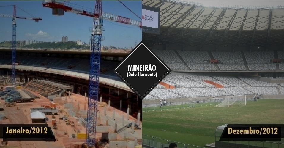 21.dez.2012 - O Mineirão foi reinaugurado na sexta-feira (21), em Belo Horizonte, dentro do prazo previsto. Com ele, agora são dois os estádios entregues até o final de 2012 para a Copa de 2014.