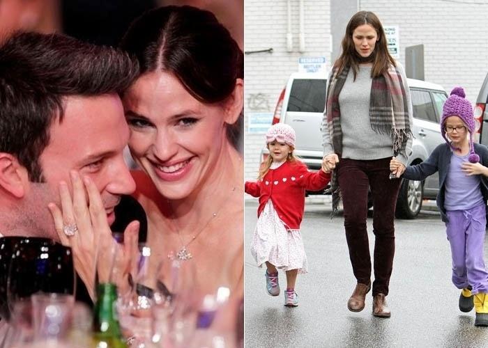 28.fev.2012 - Os atores Ben Affleck e Jennifer Garner tiveram Samuel no dia 28 de fevereiro. O casal já é pai de Violet , de sete anos,e Seraphina, de três. As duas aparecem com Jennifer na foto