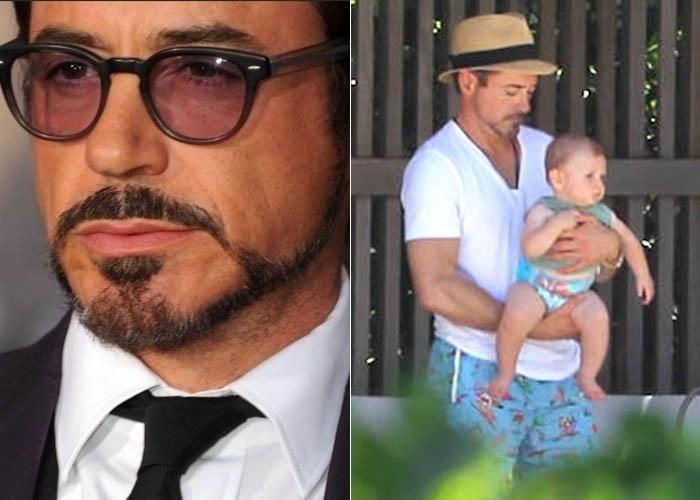 7.fev.2012 - Susan, mulher do ator Robert Downey Jr., deu à luz Exton Elias Downey no dia 7 de fevereiro. O ator já tem um filho, Indio, de 18 anos