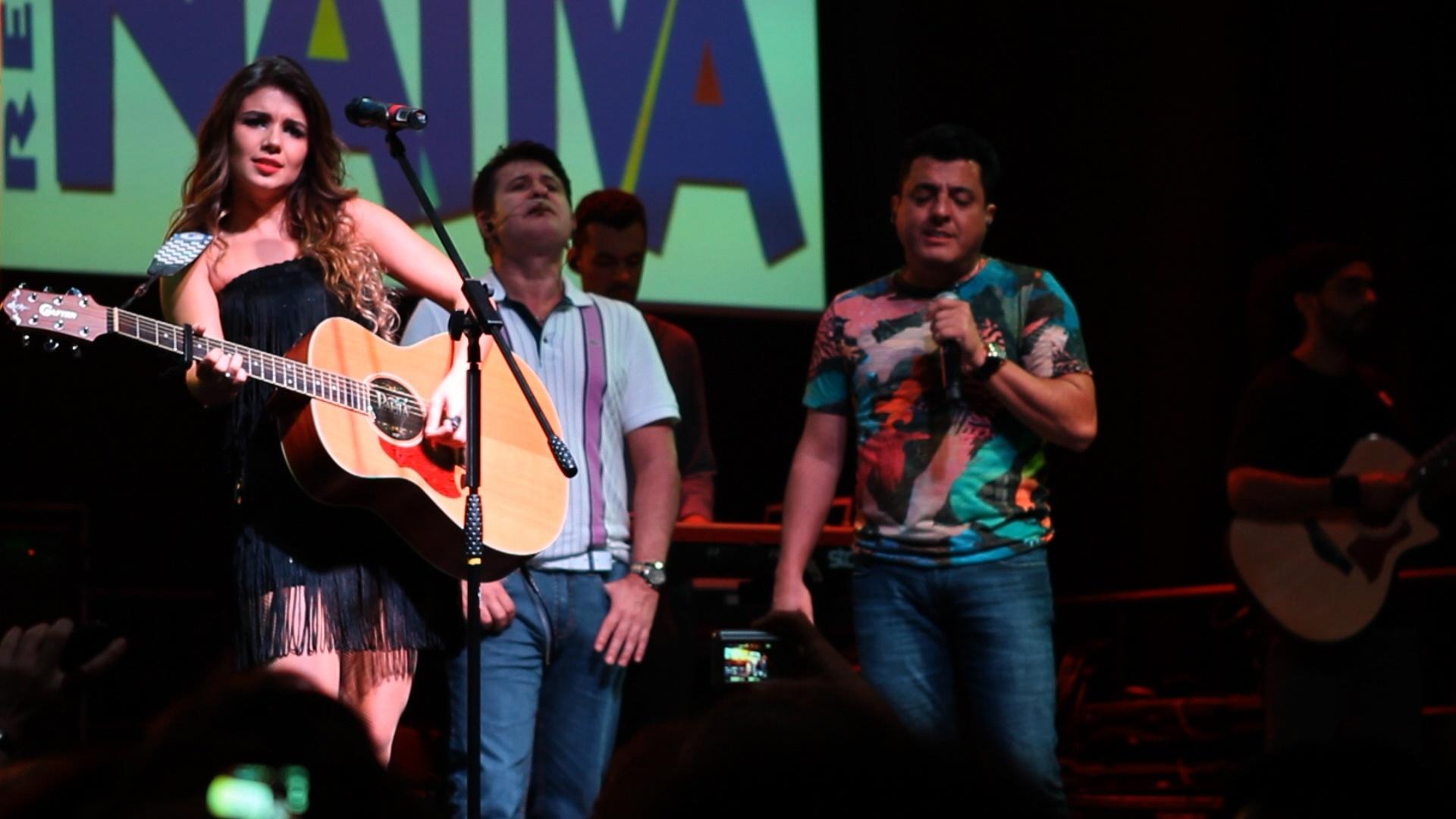 Paula Fernandes e Bruno & Marrone cantam juntos na Nativa FM