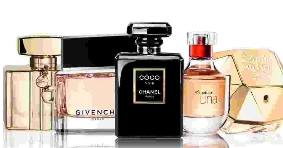 Perfumes marcantes e elegantes são sugestões para a noite de Natal - Divulgação/Montagem UOL