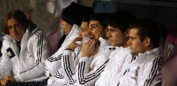 Iker Casillas amargou o banco de reservas no duelo diante do Málaga, neste sábado