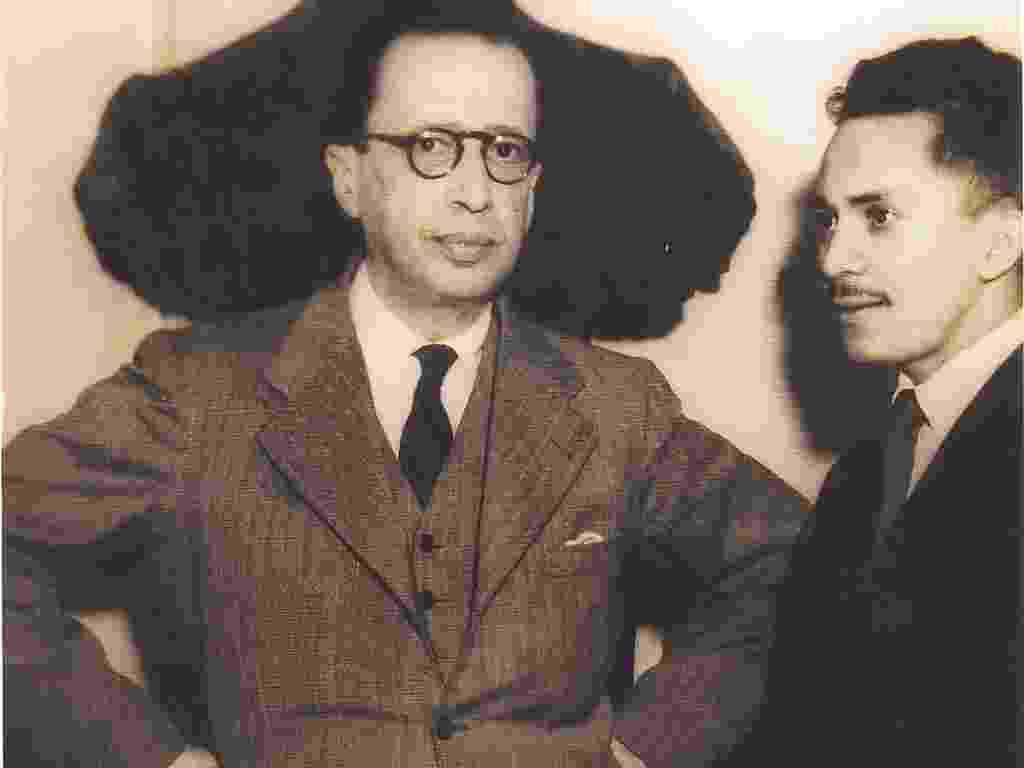O escritor alagoano Lêdo Ivo ao lado do poeta Manuel Bandeira em foto do acervo da Academia Brasileira de Letras - Acervo ABL