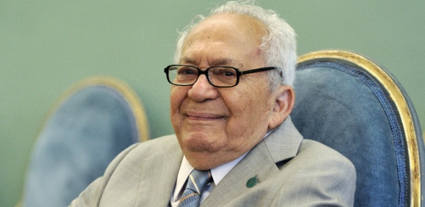 O escritor alagoano Lêdo Ivo na Academia Brasileira de Letras, onde ocupava a Cadeira nº 10 - Acervo ABL