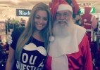Ex-BBB Monique tira foto com Papai Noel em shopping - Reprodução/Instagram