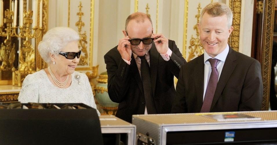 24.dez.2012 A rainha Elizabeth 2ª fará sua tradicional mensagem televisiva de Natal deste ano pela primeira vez com uma transmissão em três dimensões