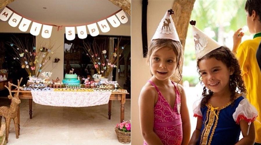 24.dez.2104 - Maria Sophia, filha de Ronaldo e Bia Anthony, completou 4 anos nesta segunda. Bia preparou uma festa para a filha e divulgou as imagens pelo Instagram