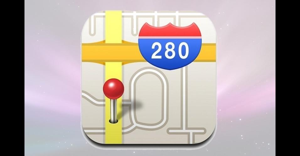 Ícone antigo do aplicativo de mapas do iOS 6