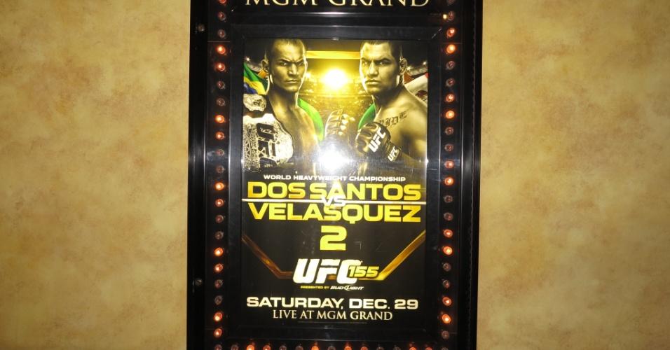 Cartaz da luta entre o brasileiro Cigano e o americano Cain Velásquez