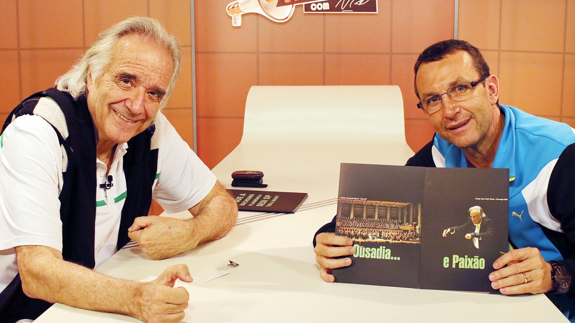 Música, boxe e Portuguesa foram os principais temas da conversa de João Carlos Martins com Neto