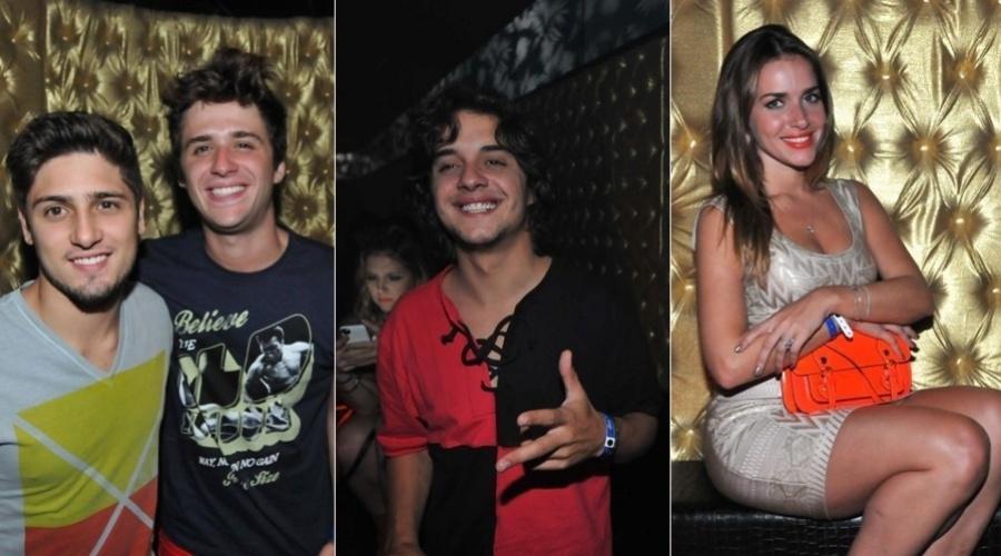 27.dez.2012 - As atores Daniel Rocha, Guilherme Boury e Monique Alfradique prestigiaram uma festa que aconteceu em Jurerê, Santa Catarina
