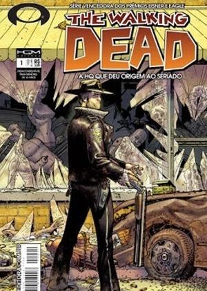 """Capa da primeira edição da revista mensal de """"The Walking Dead"""", publicada no Brasil pela editora HQM - Divulgação"""