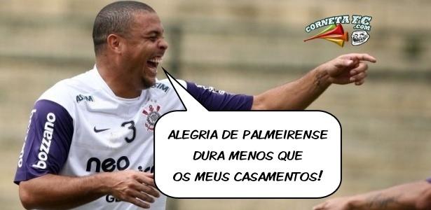 Corneta FC: Ronaldo ri de si mesmo para cornetar palmeirenses