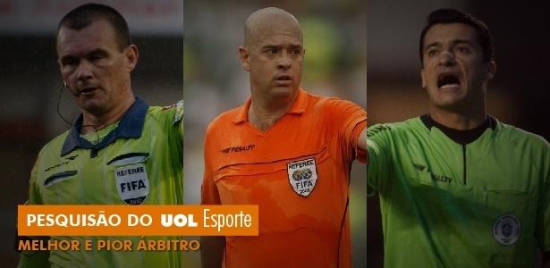 Pesquisão UOL Esporte de melhor e pior árbitro para 2013 - Arte/UOL