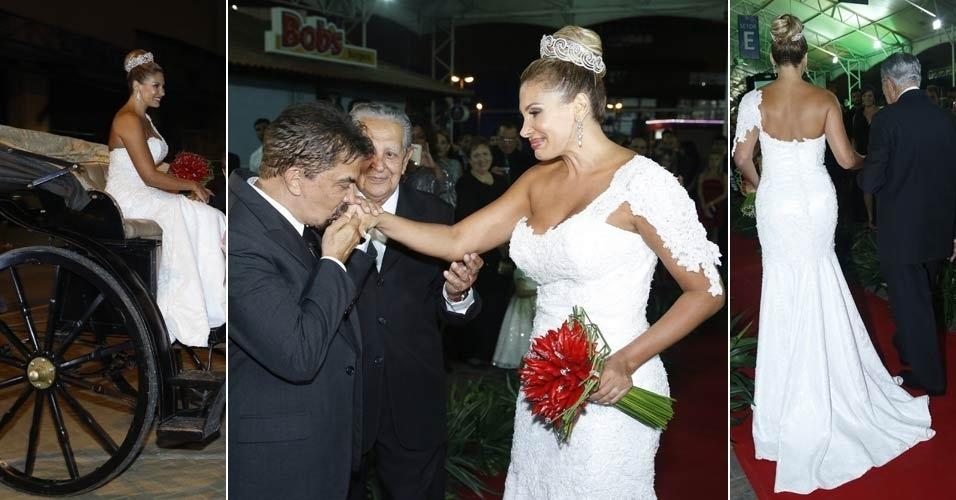 (29.dez.2012) casamento de Ângela Bismarchi e Wagner de Moraes no Rio