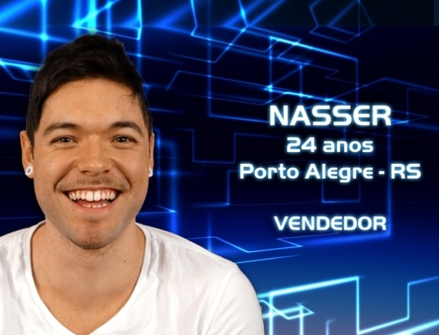 """Foto de divulgação do vendedor Nasser, participante do """"BBB13"""""""