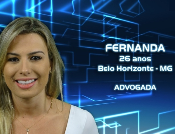 """Foto de divulgação da advogada Fernanda, participante do """"BBB13"""""""