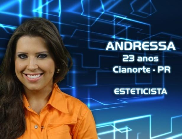 """Foto de divulgação da esteticista Andressa, participante do """"BBB13"""""""