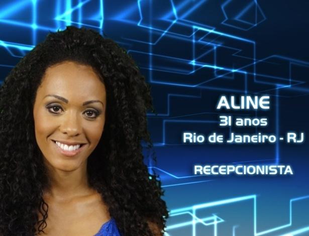 """Foto de divulgação da recepcionista Aline, de 31 anos, participante do """"BBB13"""""""